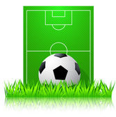 Football by a football pitch — Stock Vector