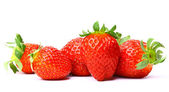 Pack of strawberries isolated on white background — Stock Photo