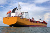 Chemical tanker at sea — Stock Photo
