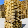 Stock Photo: Pallets stack