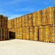 Stock Photo: Pallets storehouse