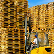 Stock Photo: Pallets forklift
