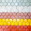 Stock Photo: Hexagonal bricks