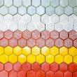Hexagonal bricks — Stock Photo