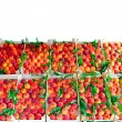 Stock Photo: Peach crates