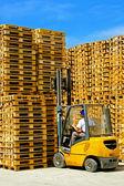 Pallets forklift — Stock Photo