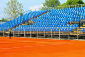 Tennis court stands — Stock Photo