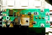 Damaged circuit board — 图库照片