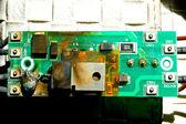 Placa de circuito danificada — Foto Stock