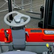 Stock Photo: Forklift driver view