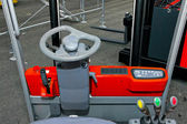 Forklift driver view — Stock Photo