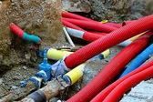 Underground pipes — Stock Photo