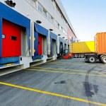 Forklift loader — Stock Photo