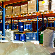 Warehouse through shelf - Stock Photo