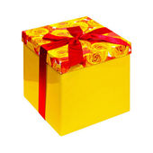 Yellow box — Stock Photo