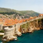 Dubrovnik walls panorama — Stock Photo