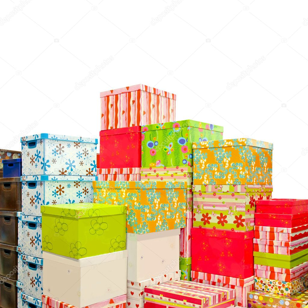 Big pile of colorful Christmas presents and boxes — Stock Photo #4123802