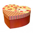 Stock Photo: Red heart box