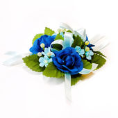 Blue corsage — Stock Photo