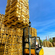Stock Photo: Forklift loads