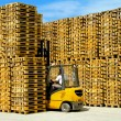 Stock Photo: Pallets walls