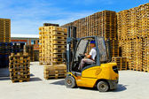 Forklift pallet — Stock Photo
