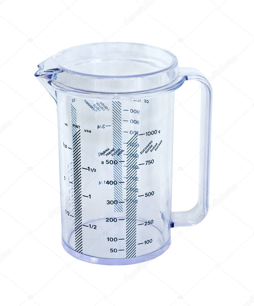 Transparent measuring cup with clipping path includedme  Stock Photo #4205905