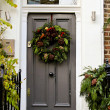 Christmas door — Stock Photo