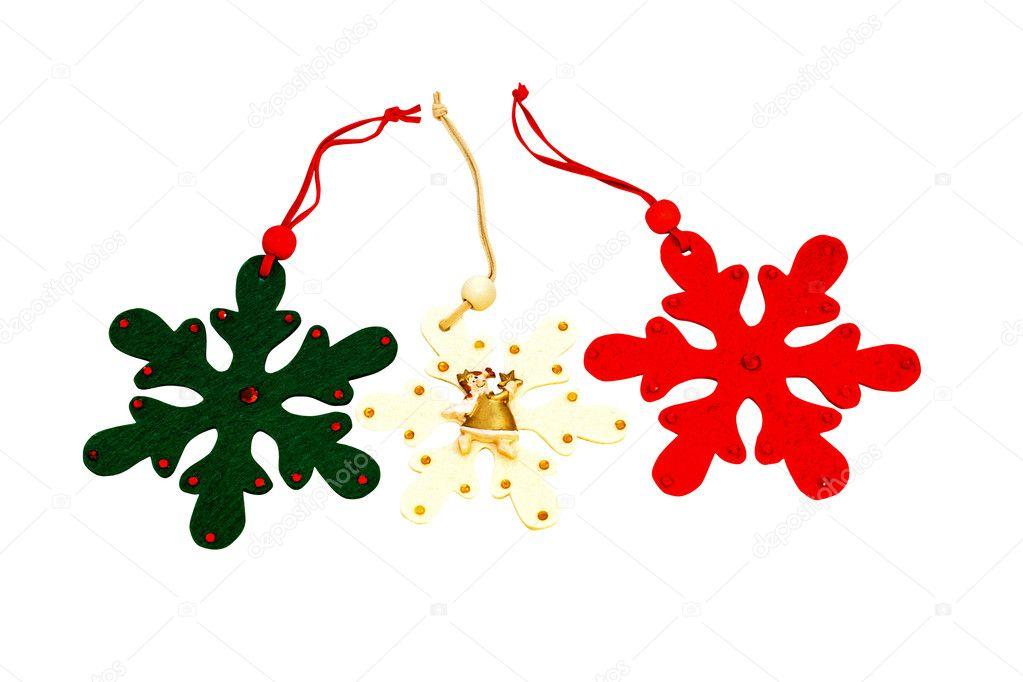 Christmas ornaments isolated with clipping path included  Stock Photo #4285553