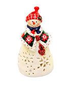 Estatuilla del muñeco de nieve — Foto de Stock