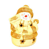 Yellow snowman — Stock Photo