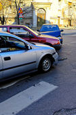 Trojitá crash nehoda — Stock fotografie