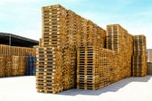 Transportation pallets — Stock Photo