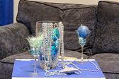 Christmas blue decoration — Stock Photo