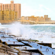 Alexandria breakwater - Stock Photo