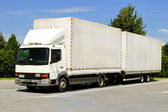 Camion e rimorchio — Foto Stock