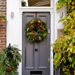 Holiday wreath — Stock Photo