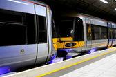 Train at platform — Stock Photo