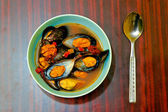 Shellfish soup — Stock Photo