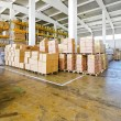 Warehouse boxes — Foto de Stock
