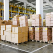 Warehouse boxes — Stockfoto