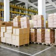 Warehouse boxes — Stock Photo