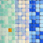 Swimming pool tiles — Stock Photo