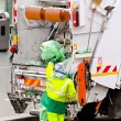 Stock Photo: Garbage worker