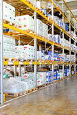 Cremalheira do armazenamento químico — Foto Stock