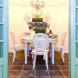 Stock Photo: Garden dinning room