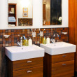 Double washbasin — Stock Photo #4561263