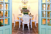 Garden dinning room — Stock Photo