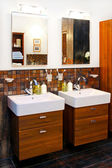 Double washbasin — Stock Photo