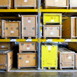 Crates warehouse — Stock Photo